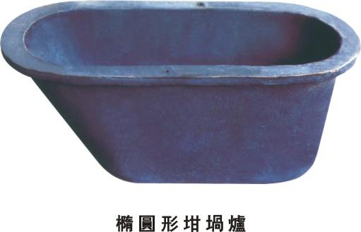锌合金炉铸铁坩埚